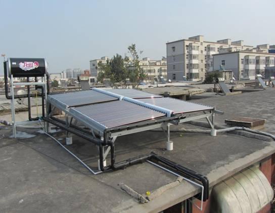 龙田安阳市聂村家庭太阳能采暖项目